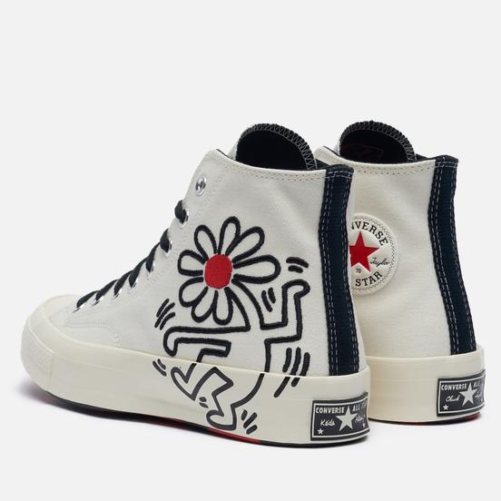 Мужские кеды Converse x Keith Haring Chuck 70 Hi Egret/Black/Red