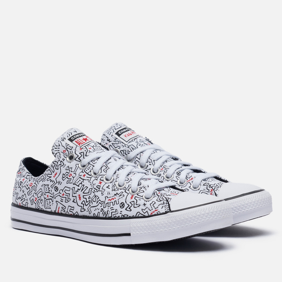Кеды Converse x Keith Haring Chuck Taylor All Star Low White/Black/Red