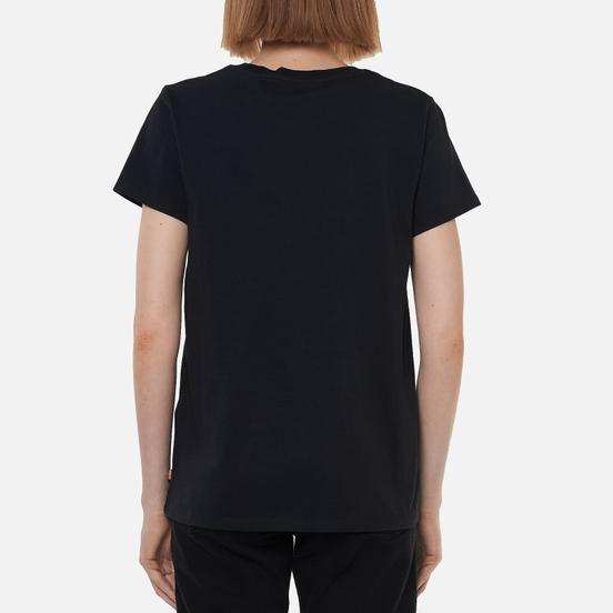 Женская футболка Levi's The Perfect Logo Caviar