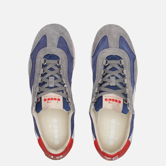 Мужские кроссовки Diadora Heritage Equipe Suede Stone Wash Night Blue