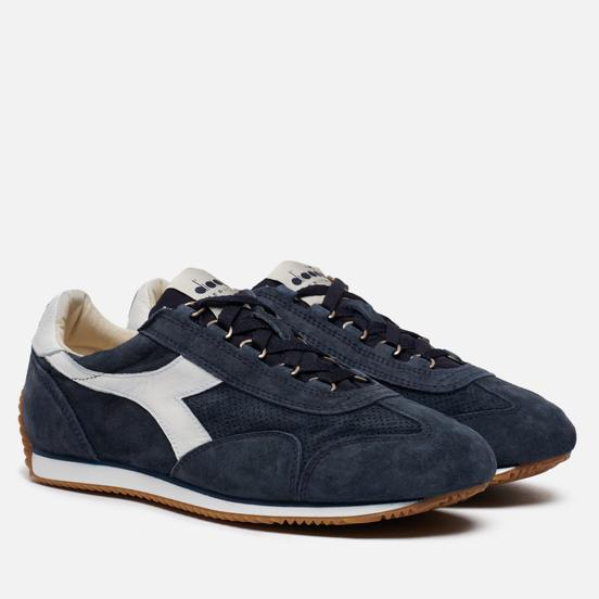 Мужские кроссовки Diadora Heritage Equipe Suede Stone Wash Blue Denim/White