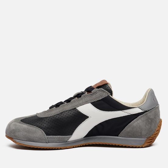 Мужские кроссовки Diadora Heritage Equipe ITA Black/Charcoal Gray/White
