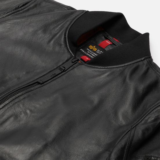 Мужская куртка бомбер Alpha Industries MA-1 Leather LW II Black