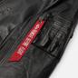 Мужская куртка бомбер Alpha Industries MA-1 Leather LW II Black фото - 2