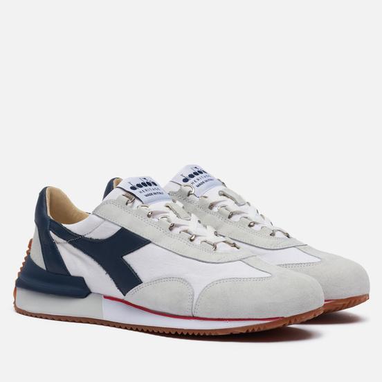 Мужские кроссовки Diadora Heritage Equipe Mad Italia White/Blue Denim