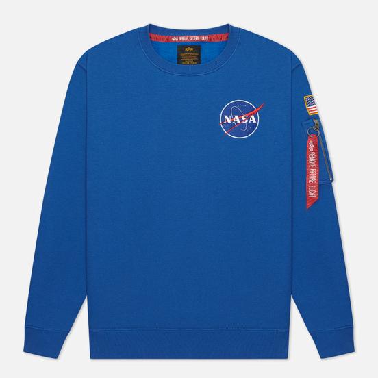 Мужская толстовка Alpha Industries NASA Space Shuttle NASA Blue