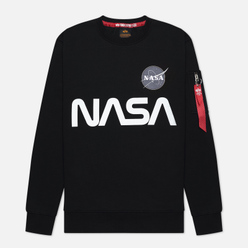 Мужская толстовка Alpha Industries Nasa Reflective Black