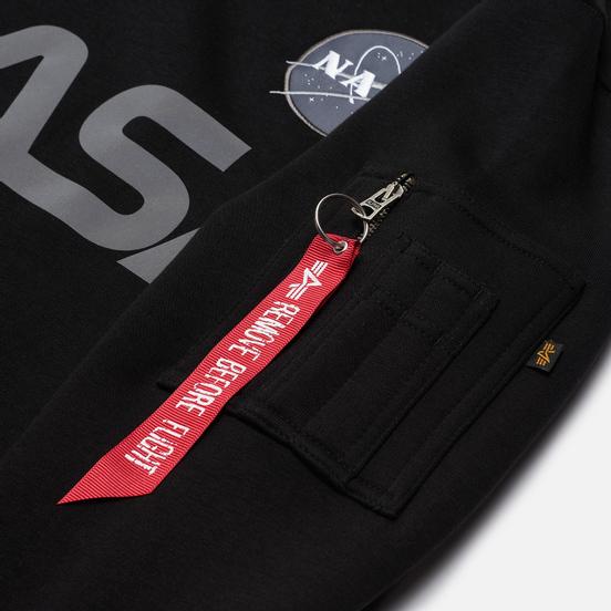 Мужская толстовка Alpha Industries NASA Reflective Black