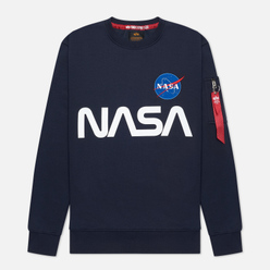 Мужская толстовка Alpha Industries Nasa Reflective Replica Blue