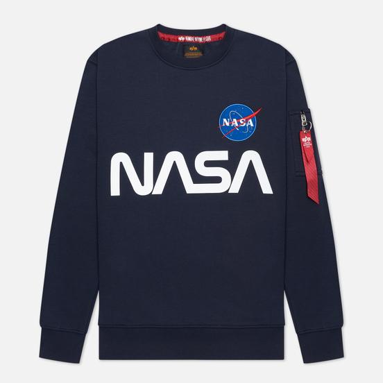 Мужская толстовка Alpha Industries NASA Reflective Replica Blue