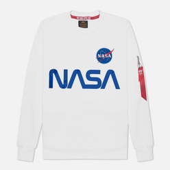 Мужская толстовка Alpha Industries Nasa Reflective White/Blue