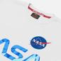 Мужская толстовка Alpha Industries NASA Reflective White/Blue фото - 1
