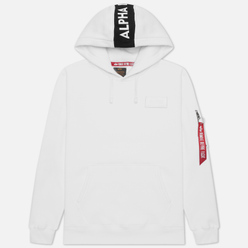 Мужская толстовка Alpha Industries Red Stripe Hoody White