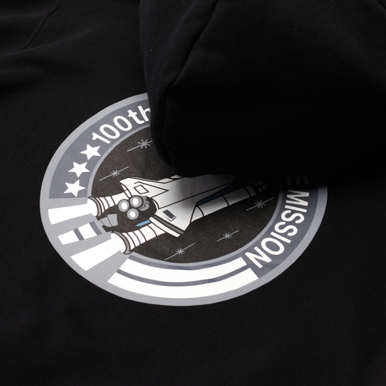 Мужская толстовка Alpha Industries NASA Space Shuttle Hoody Black
