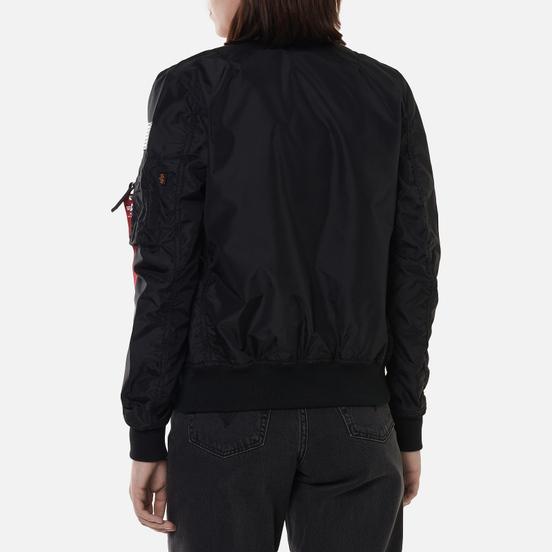 Женская куртка бомбер Alpha Industries MA-1 TT NASA Reversible Black