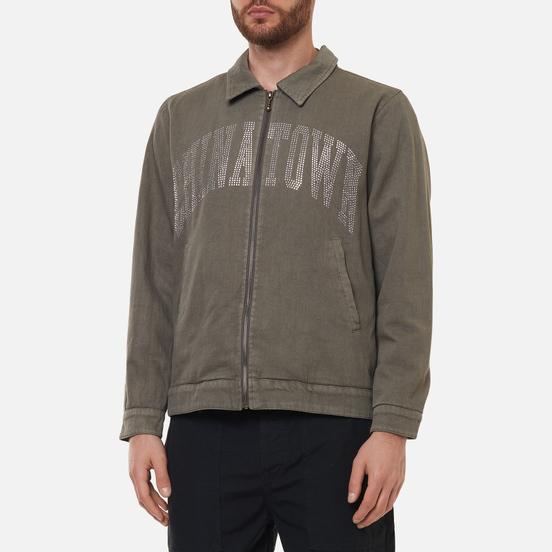 Мужская куртка Chinatown Market Silver Rninestone Arc Garage Charcoal Grey