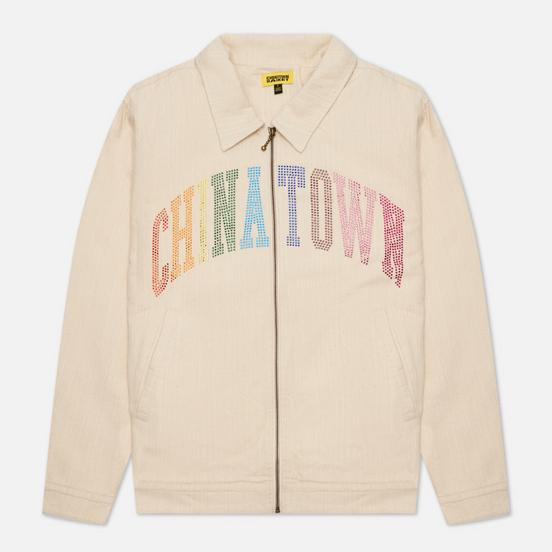 Мужская куртка Chinatown Market Rainbow Rninestone Arc Garage Tan