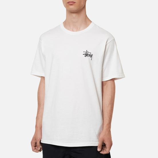 Мужская футболка Stussy Basic White/Black