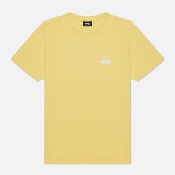 Мужская футболка Stussy Basic Yellow/White