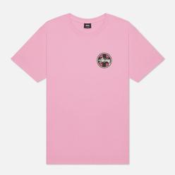 Мужская футболка Stussy Cross Dot Pink