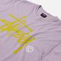 Мужская футболка Stussy Basic Logo Pigment Dyed Lavender фото - 1