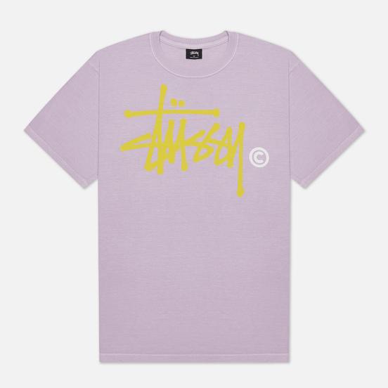Мужская футболка Stussy Basic Logo Pigment Dyed Lavender