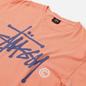 Мужская футболка Stussy Basic Logo Pigment Dyed Neon Orange фото - 1