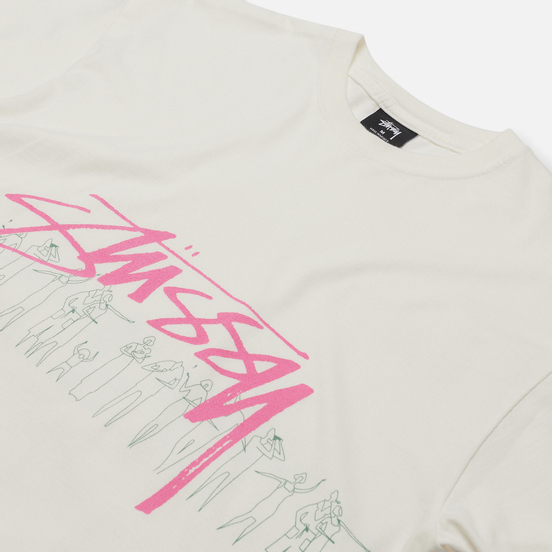 Мужская футболка Stussy People Stripe Pigment Dyed Natural