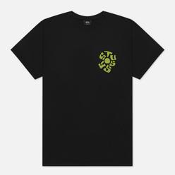 Мужская футболка Stussy Sprout Pigment Dyed Black