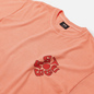 Мужская футболка Stussy Sprout Pigment Dyed Neon Orange фото - 1