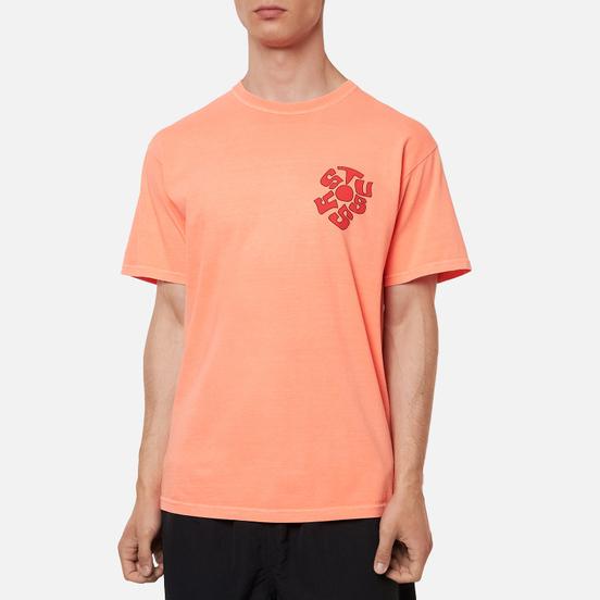 Мужская футболка Stussy Sprout Pigment Dyed Neon Orange