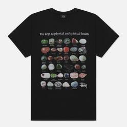 Мужская футболка Stussy Stones Pigment Dyed Black