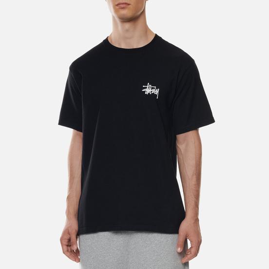 Мужская футболка Stussy Basic Stussy Print Black