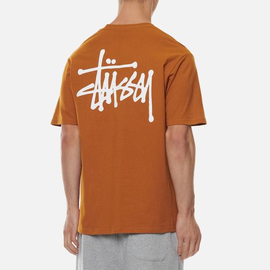 Мужская футболка Stussy Basic Stussy Print Caramel