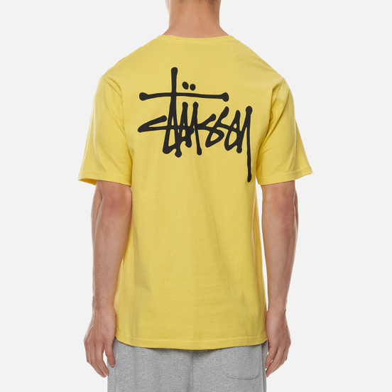 Мужская футболка Stussy Basic Stussy Print Lemon