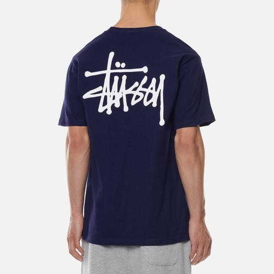 Мужская футболка Stussy Basic Stussy Print Navy