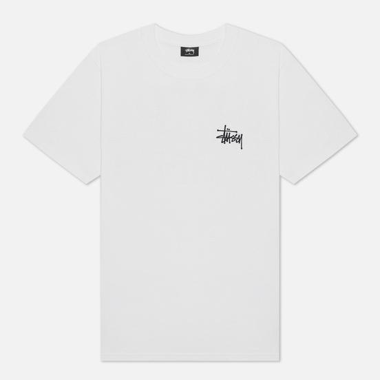 Мужская футболка Stussy Basic Stussy Print White