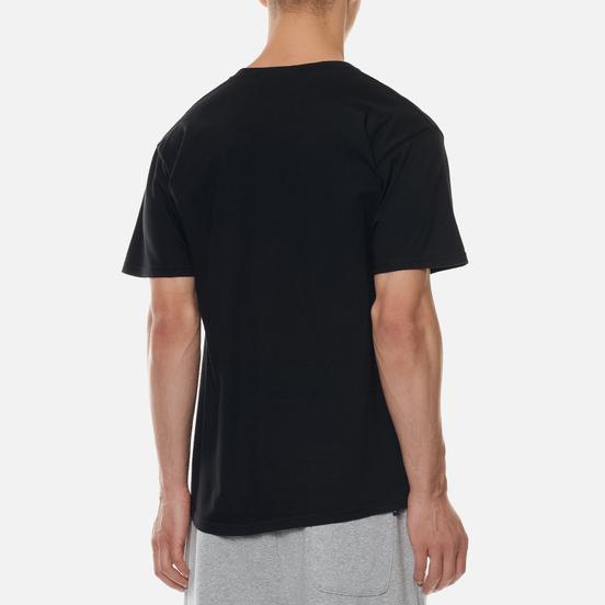 Мужская футболка Stussy Flower Collegiate Pigment Dyed Black