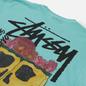 Мужская футболка Stussy Smokin Skull Pigment Dyed Aqua фото - 2