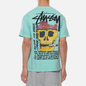 Мужская футболка Stussy Smokin Skull Pigment Dyed Aqua фото - 4