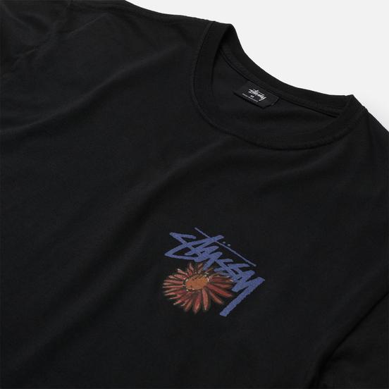 Мужская футболка Stussy Smokin Skull Pigment Dyed Black