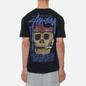Мужская футболка Stussy Smokin Skull Pigment Dyed Black фото - 4