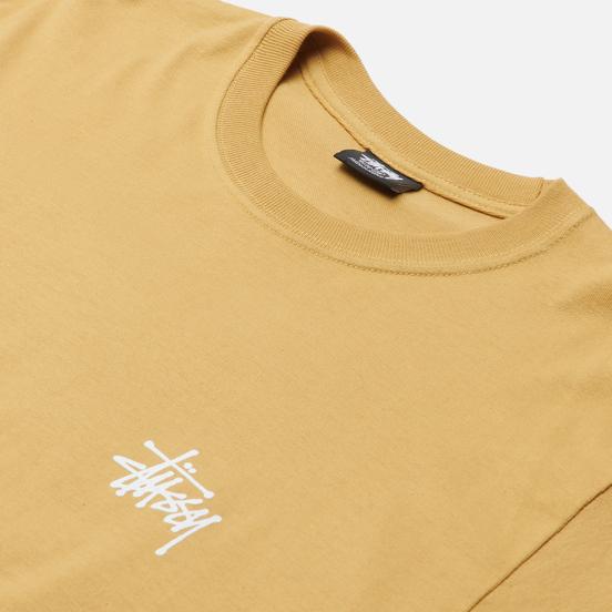 Мужская футболка Stussy SS Basic Stussy Khaki