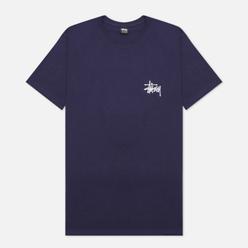 Мужская футболка Stussy SS Basic Stussy Navy