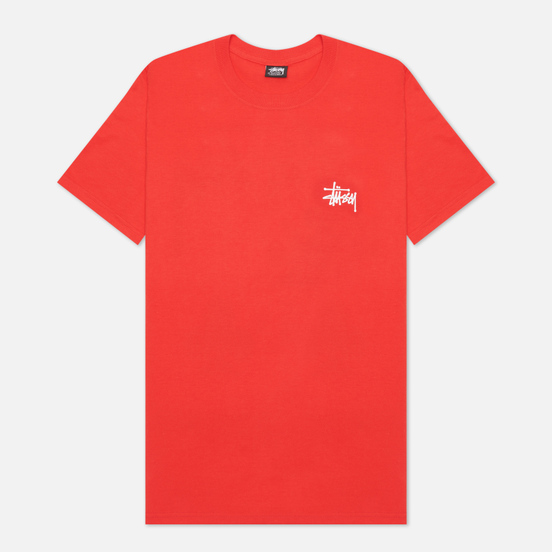 Мужская футболка Stussy SS Basic Stussy Red