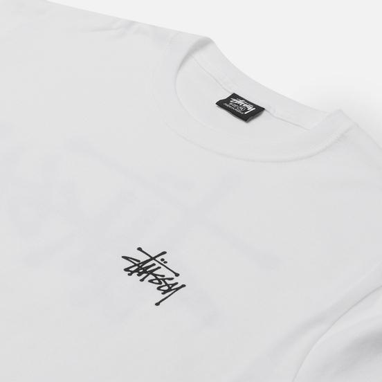Мужская футболка Stussy SS Basic Stussy White