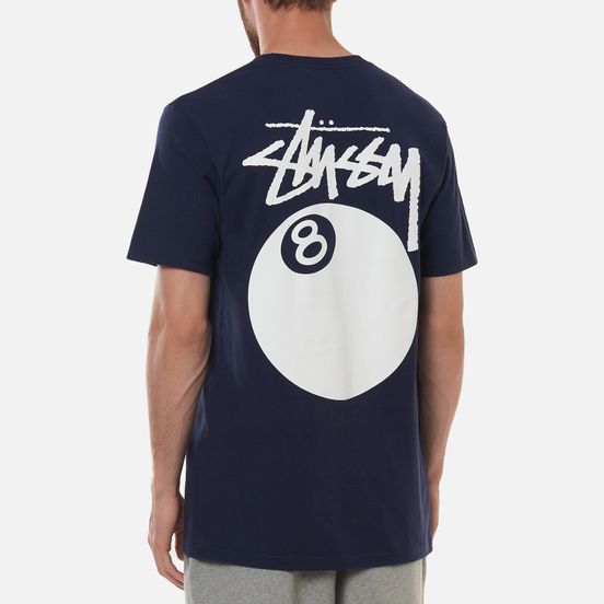 Мужская футболка Stussy 8 Ball Graphic Art Navy