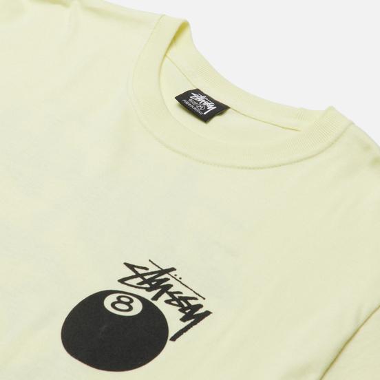 Мужская футболка Stussy 8 Ball Graphic Art Pale Yellow