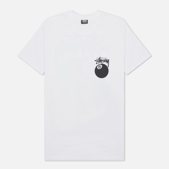 Мужская футболка Stussy 8 Ball Graphic Art White