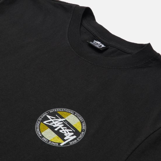 Мужская футболка Stussy Classic Dot Pigment Dyed Black